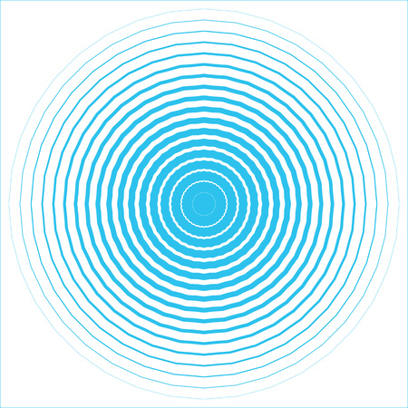 Blue Water rings drops isolated on white background. Vector pattern, concentric circles , wave. Trendy, modern, minimalism Template for your design