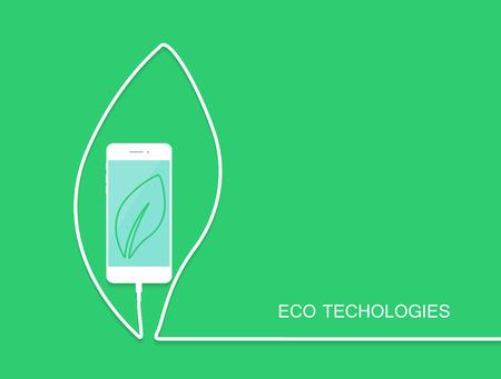 Eco Handy Kostenlos, Draht Auf Grünem Hintergrund. Überraschung ...