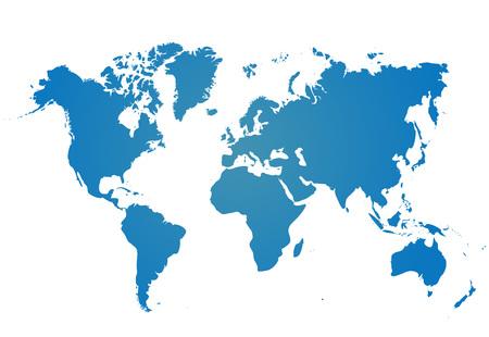 Mapa świata na białym tle. Szablon trójkąta na stronie internetowej, infografiki, okładka. Ilustracji wektorowych