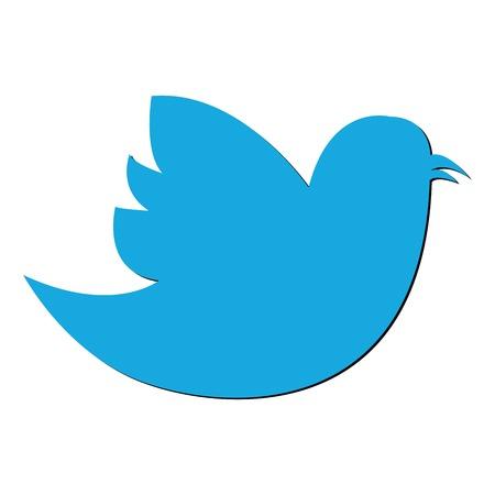 Social Bird icon on background. Modern flat pictogram, business, marketing, internet concept. Trendy Simple vector symbol for web site design or button to mobile app. illustration Illustration