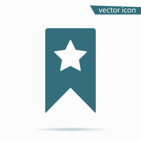 guidebook: Blue Bookmark icon isolated on background. Modern flat pictogram, business, marketing, internet concept. Trendy Simple vector symbol for web site design or button to mobile app. illustration Illustration