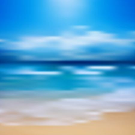 tropical: Tropical horizon abstract background Illustration