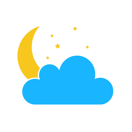 Color Sun cloud icon isolated on background. Modern flat pictogram, business, marketing, internet concept. Trendy Simple vector symbol for web site design or button to mobile app. illustration