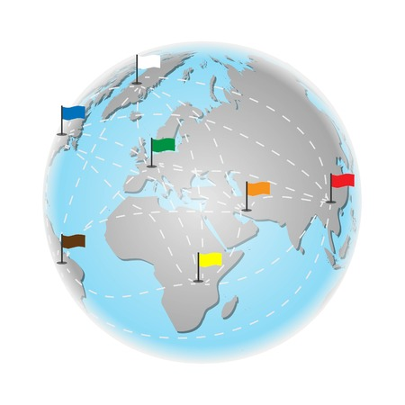 World travel and tourism concept. earth vector illustration Illustration