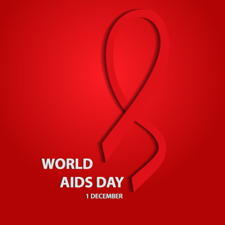 Awareness. World Aids Day 3d concept. . Vector illustration.