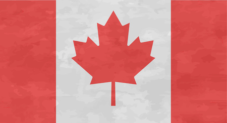 frayed: Canada flag in retro style frayed vector illustration