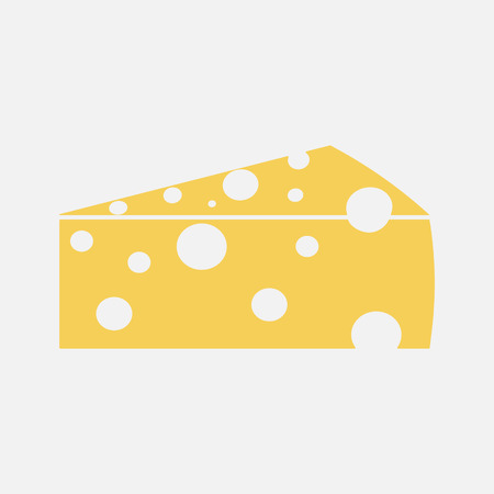 Color Cheese icon isolated on background. Modern flat pictogram, business, marketing, internet concept. Trendy Simple vector symbol for web site design or button to mobile app. illustration