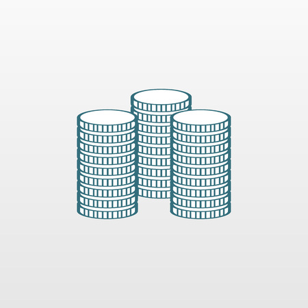 pound symbol: Blue Money icon isolated on background. Modern simple flat bank sign. Business, internet concept. Trendy cash vector save pound symbol for website design, web button, mobile app.  illustration