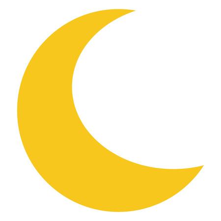 Geel pictogram Maan geïsoleerd op de achtergrond. Moderne flat pictogram, zaken, marketing, internet concept. Trendy Eenvoudige vector symbool voor web site design of om mobiele app. illustratie Vector Illustratie