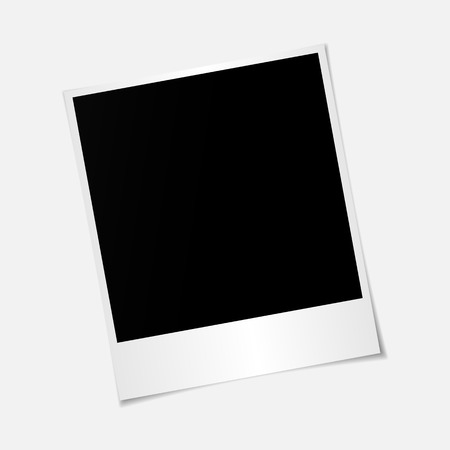feature film: Blank photo  frame with adhesive tape isolated on transparent background, shadow effect and empty space for your photograph and picture.  vector illustration