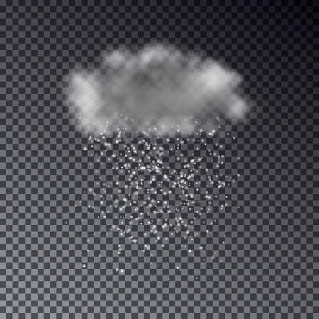 drench: Realista oscura nube de nieve aislado en el fondo transparente. plantilla de efectos de tiempo de luz. ilustración de previsión.