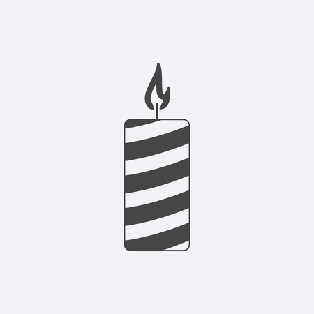 Gray candle icon isolated on background. Modern flat church candle pictogram. Trendy,simple christianity attribute vector, symbol for web site design or button to mobile app. Logo illustration Zdjęcie Seryjne - 69003185