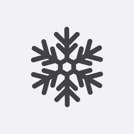 Snow gray icon isolated on background. Modern flat pictogram, internet concept. Trendy Simple snow vector symbol for web site design or button to mobile app. Logo snow illustration