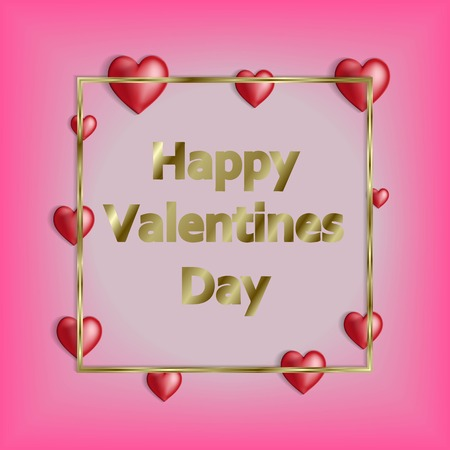 Happy valentines day and weeding design elements. Vector illustration. Pink Background With Ornaments. Vector illustration.
