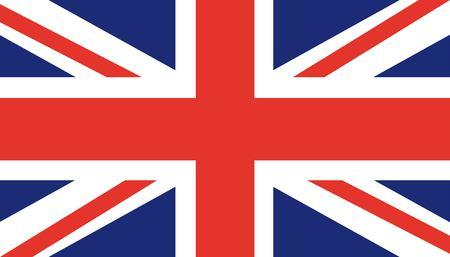 Flag of United Kingdom (UK) England. Trendy britain flat vector illustration. British symbol.
