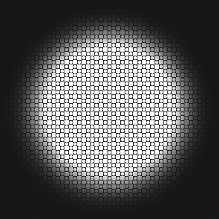 Abstract light background. Vector Light lamp effect. Many bright circle isolated on dark background. Projector vector illustration.