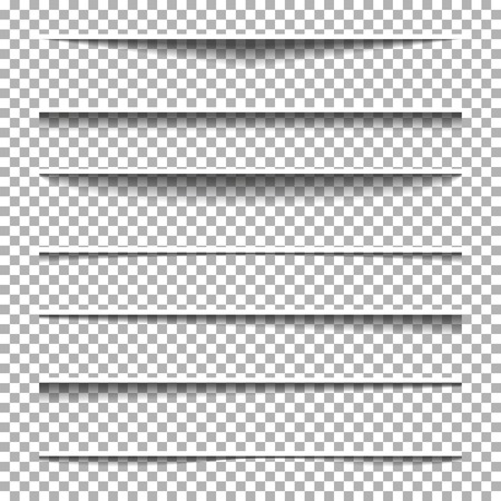 Paper shadow effect set. Banners shadow vector