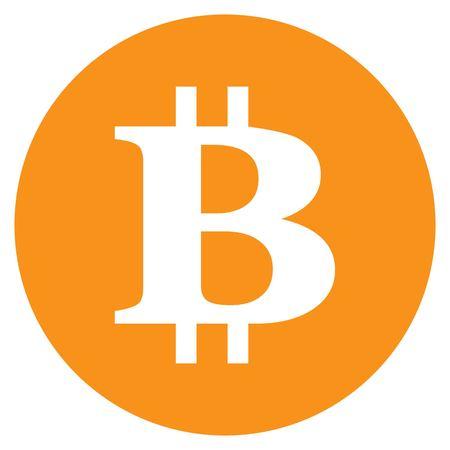 Bitcoin vector icoon. Internet geld. Stock Illustratie