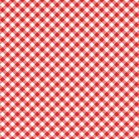 Gingham seamless pattern. Red Italian tablecloth. Picnic tale cloth vector. Ilustração