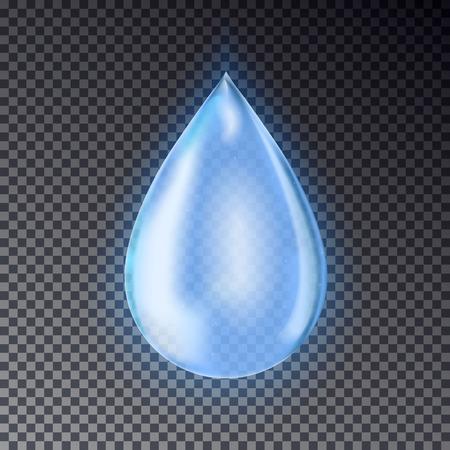 Blue water drop vector.