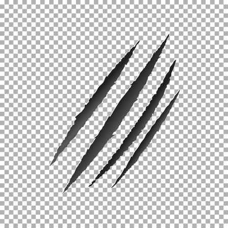 Claws scratch vector, animal claw scratch