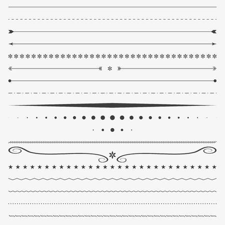 Line border, corner design vector, divider Vettoriali