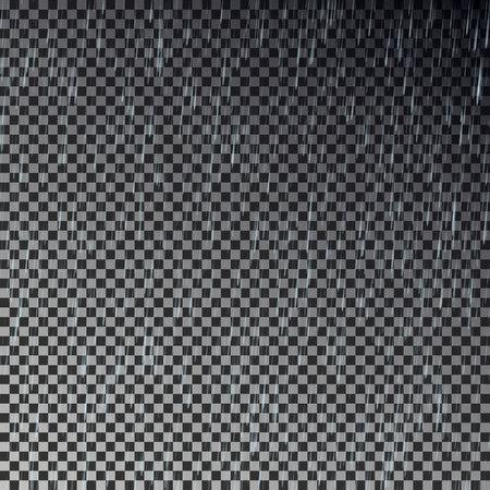 Lluvia transparente. Lluvia caída vector. Foto de archivo - 82258433