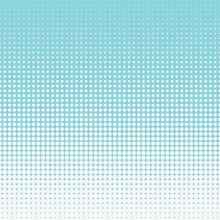 Half tone circular pattern. Blue seamless halftone vector.