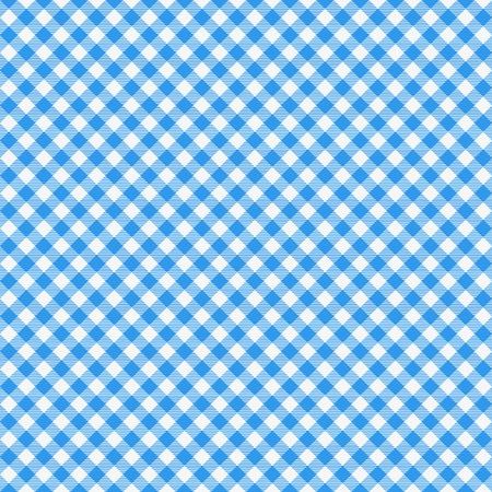 Gingham seamless pattern. Nappe italienne bleue. Vetre en tissu de conte de pique-nique.
