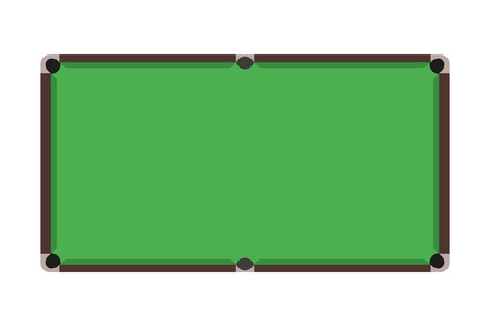 Flat Snooker table. Top view of green billiard field. Vector illustration.