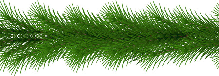 Christmas garland seamless. Decorative border vector. Banco de Imagens - 90859407