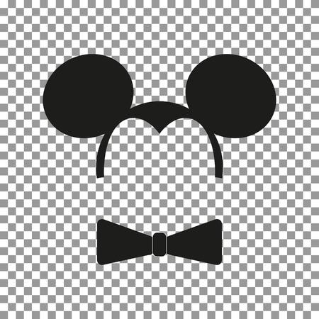 Mouse sticker vector Illustration