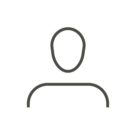 User icon vector. Line social avatar symbol. Ilustrace