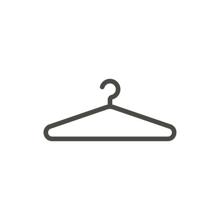Hanger icon vector. Line clothes hanger symbol.