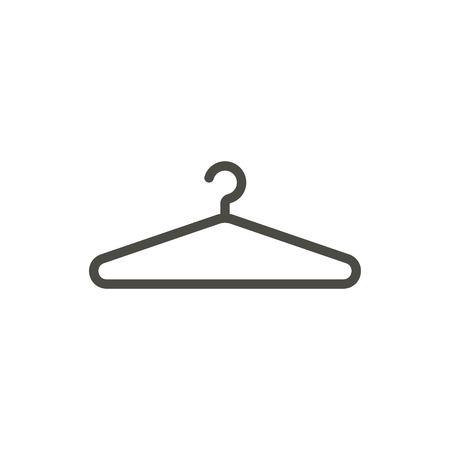 Hanger icon vector. Line clothes hanger symbol.