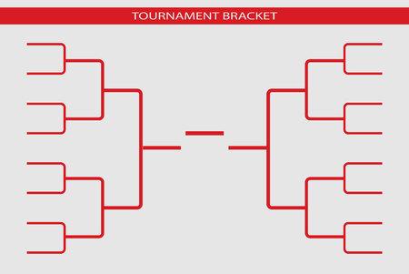 Tournament bracket vector. Championship template.
