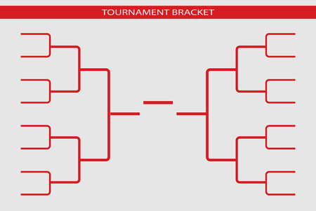 Tournament bracket vector. Championship template. 免版税图像 - 98712911