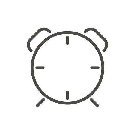 Clock alarm icon vector. Line wake up symbol. Çizim