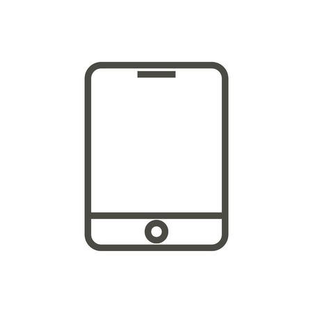 Tablet icon vector. Line smart device symbol.