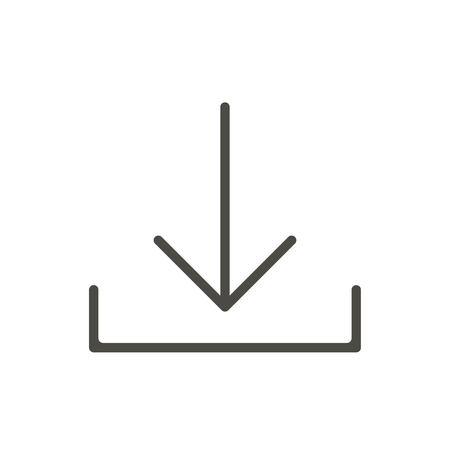 Download icon vector. Line download symbol.