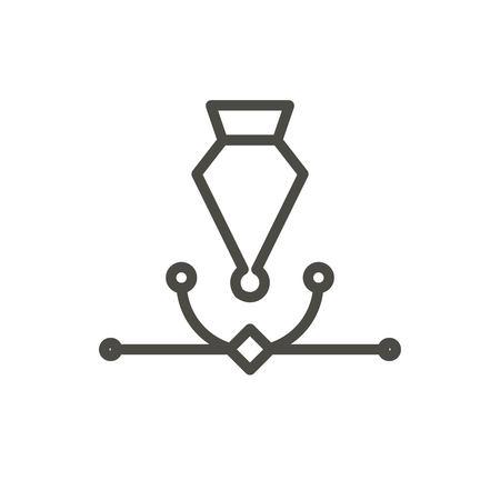 Ai editor icon vector. Line anchor symbol.