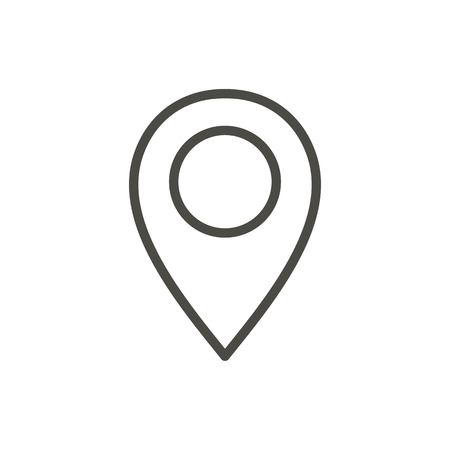 Pin map icon vector. Line location symbol.
