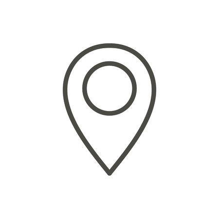 Wektor ikona mapy pinezki. Symbol położenia linii.