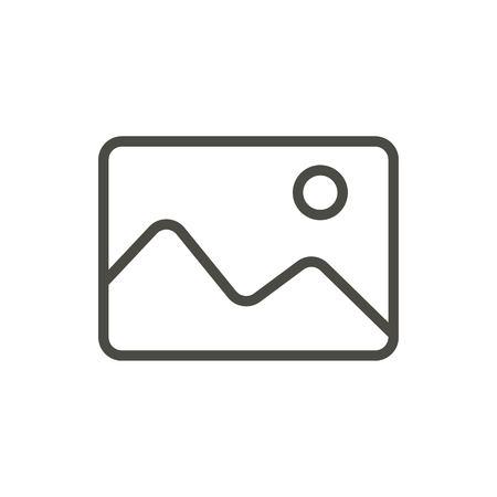 Add photo icon vector. Line image symbol.