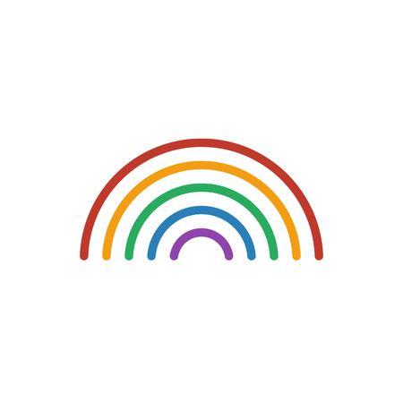 Rainbow Color Icon Vector. Line Weather Symbol Isolated. Trendy ...