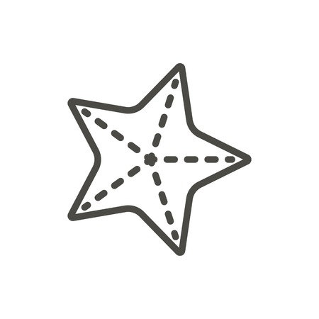 Starfish icon vector. Line sea star symbol isolated. Trendy flat outline ui sign design. Thin linear graphic pictogram for web site, mobile app. Logo illustration.