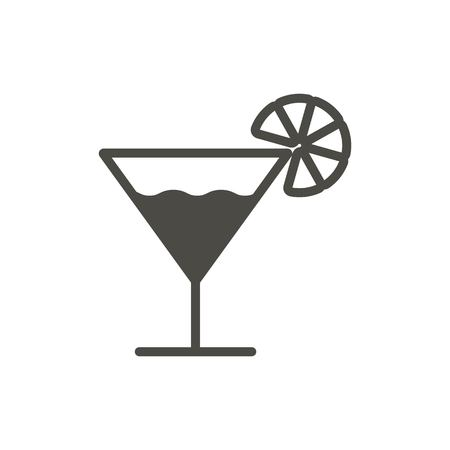 Cocktail icon vector. Glass drink symbol. Trendy flat ui sign design. Coctail graphic pictogram for web site, mobile application. Logo illustration.