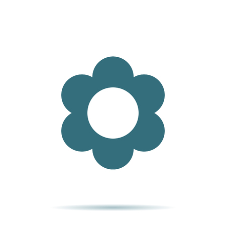 Blue Flower icon isolated on background. Modern flat pictogram. Trendy Simple vector symbol for web site design or button to mobile app. Logo illustration.