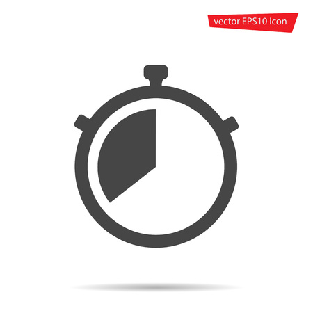 Stop Watch icon. Stopwatch timer vector isolated. Modern simple flat sign. Business, internet concept. Trendy stop vector timer symbol for web site. Logo illustration.