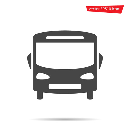 Bus icon. School auto isolated on background. Modern simple flat sign. Logo illustration. Ilustracja